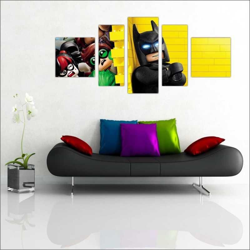 Quadro Decorativo Desenho Lego Batman Infantil 5 Peças. Compartilhe   Identificador  1121956. 27% 8b643a6036d