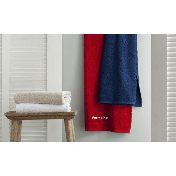 54bf08b22 Jogo de toalha de banho 5 peças Classic Vermelho Buddemeyer
