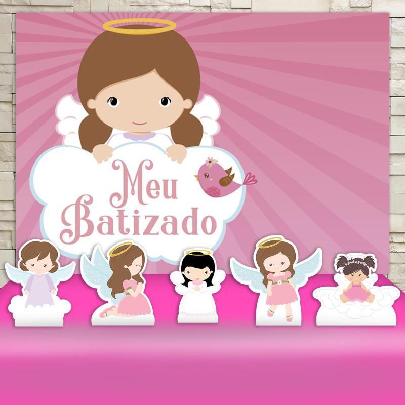 728742bd3ae Festa Batizado Menina Decoração Cenários KIt Prata - MadeiraMadeira