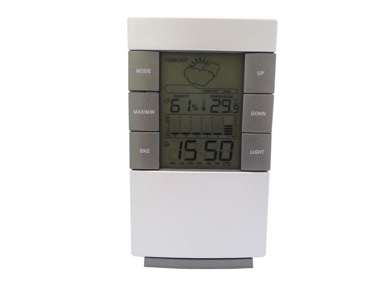 ce852cfaffa Relógio Digital de Mesa Despertador Previsão Tempo Umidade ...