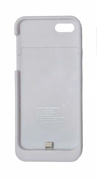 c5f8951ed2b Capa Carregadora Bateria Externa Power Bank Iphone 5 - 5s - Branco Branco