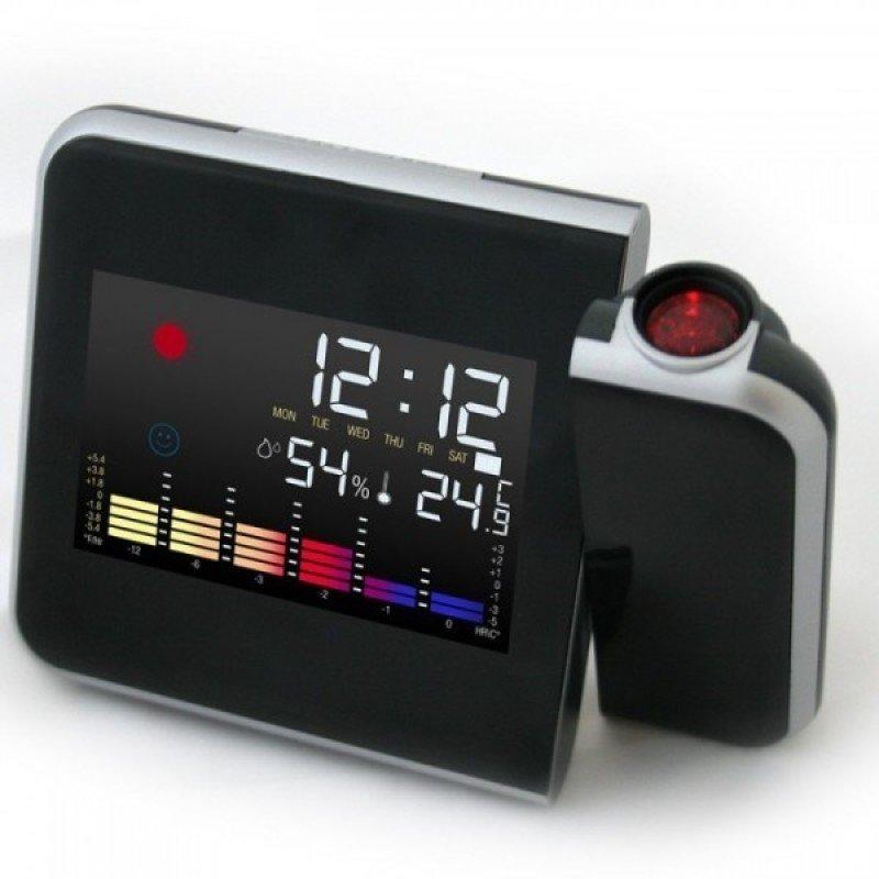 2e4a38e677b Relogio Digital Com Projetor Horas Semana Termômetro Mede Temperatura e  Desperta Com Luz Led (ds-