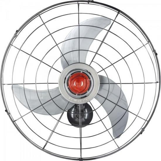 11759c702 Ventilador de Parede 68cm Bivolt POWER 70 Preto/Prata VENTIS