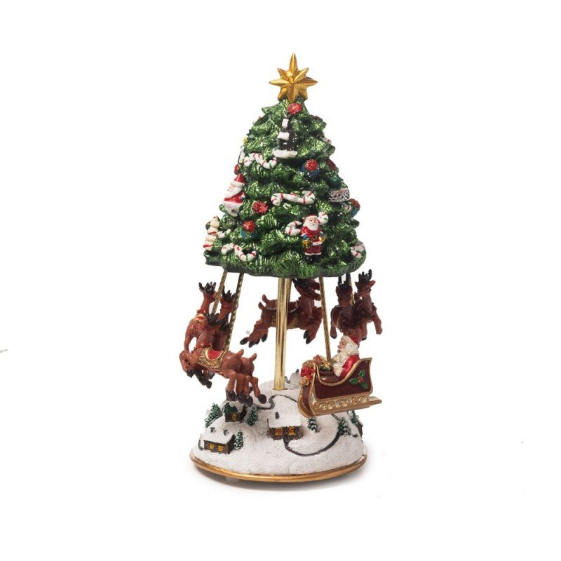 árvore De Natal Musical Decoração Natal 23cm Verde Verde
