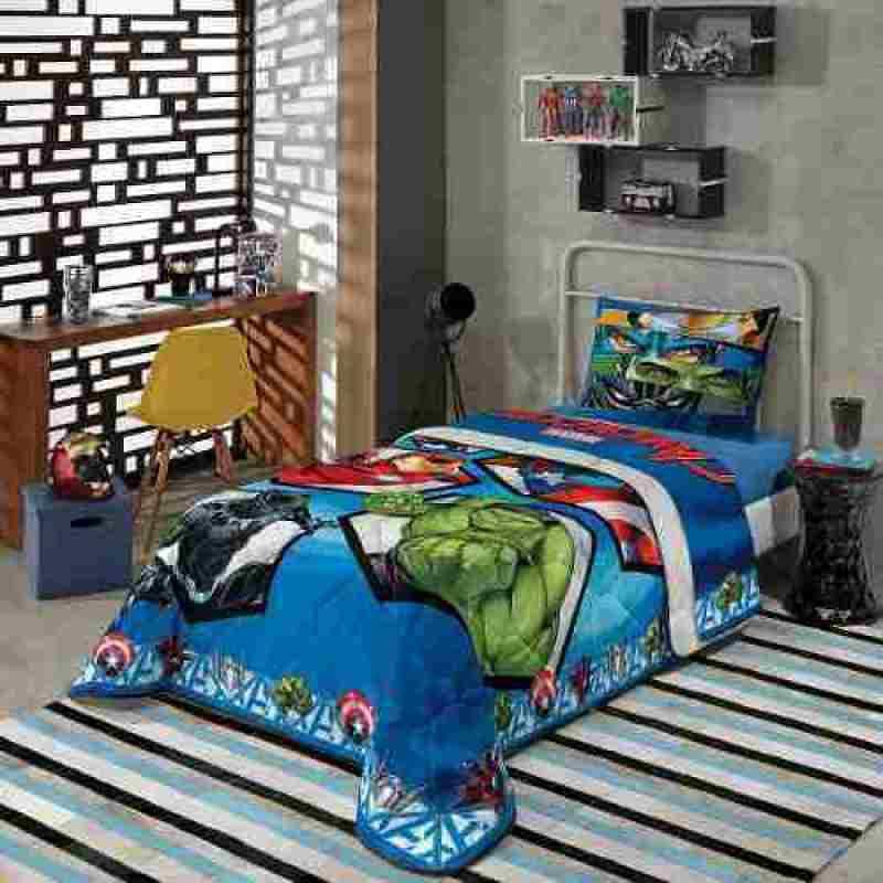 31a66d4e45 Jogo De Lençol Infantil Personagens facil lavar Algodão Lepper - Avengers