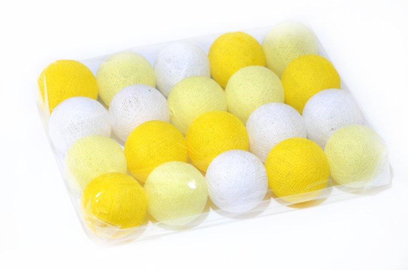 5a4064703 Cordão de Luz com Bolinhas de Cotton LED Amarela Pilhas - MadeiraMadeira