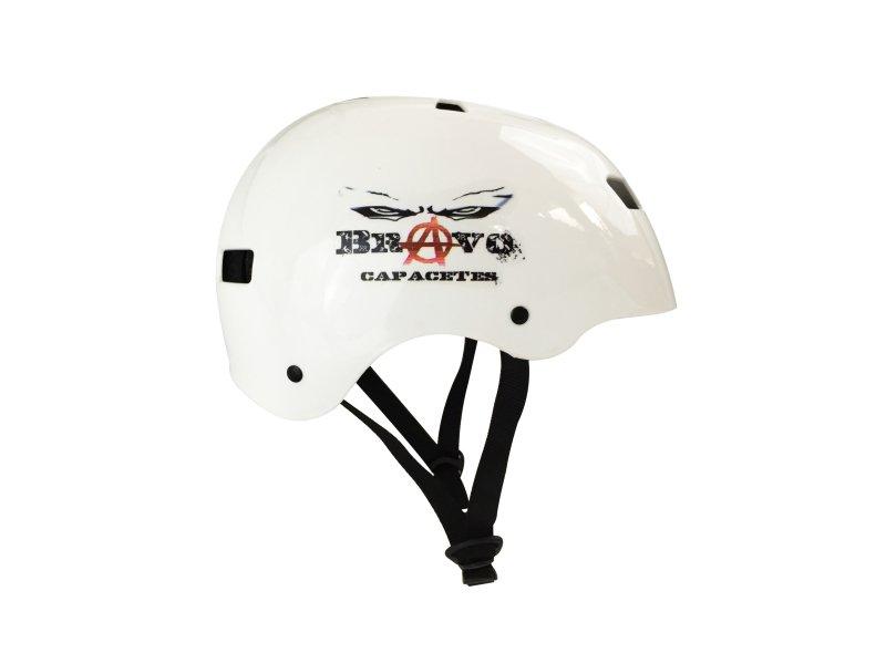 Capacete Shelby Branco Vermelho - Skate - Bike - Patins - MadeiraMadeira c020b28fe04
