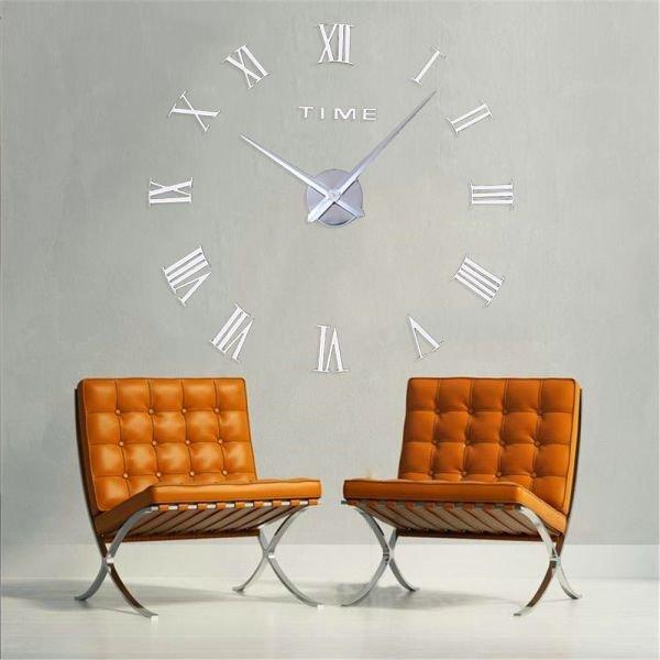 8f26dc0ae6d Relógio 3D Grande Decoração Romanos Parede Escritório Casa Sala ...