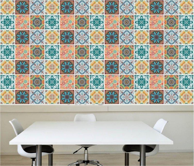 1800e2e54 Papel de Parede Azulejos Decorativo Adesivo Cozinha M24 colorido.  Compartilhe  Identificador  1159308. 14%
