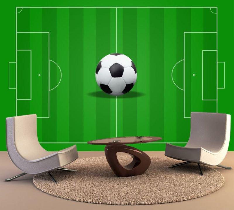 Papel De Parede Adesivo Futebol Jogo Campo Bola Gol GG137 ... 875d760e5053a