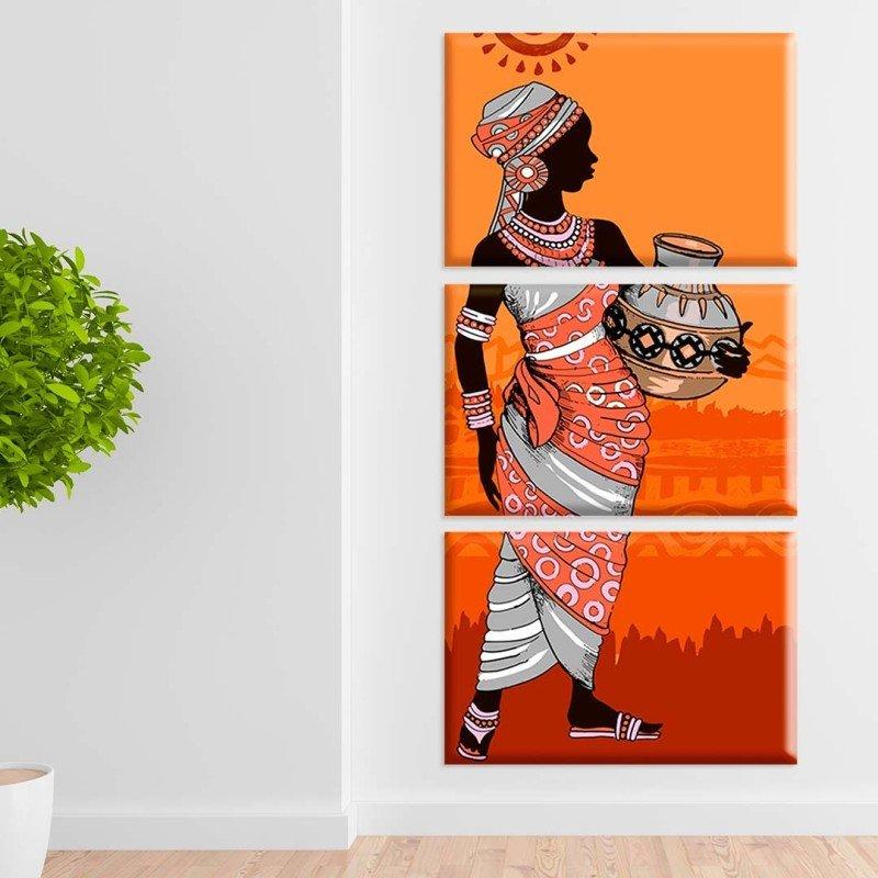 5c2370d67 Conjunto de Telas Decorativas Mulher Abstrata Grande - MadeiraMadeira
