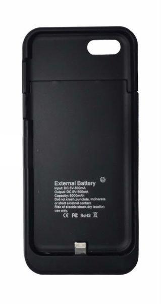 44c799f3e96 Capa Carregadora Bateria Externa Power Bank Iphone 5 - 5s - Preto Preto