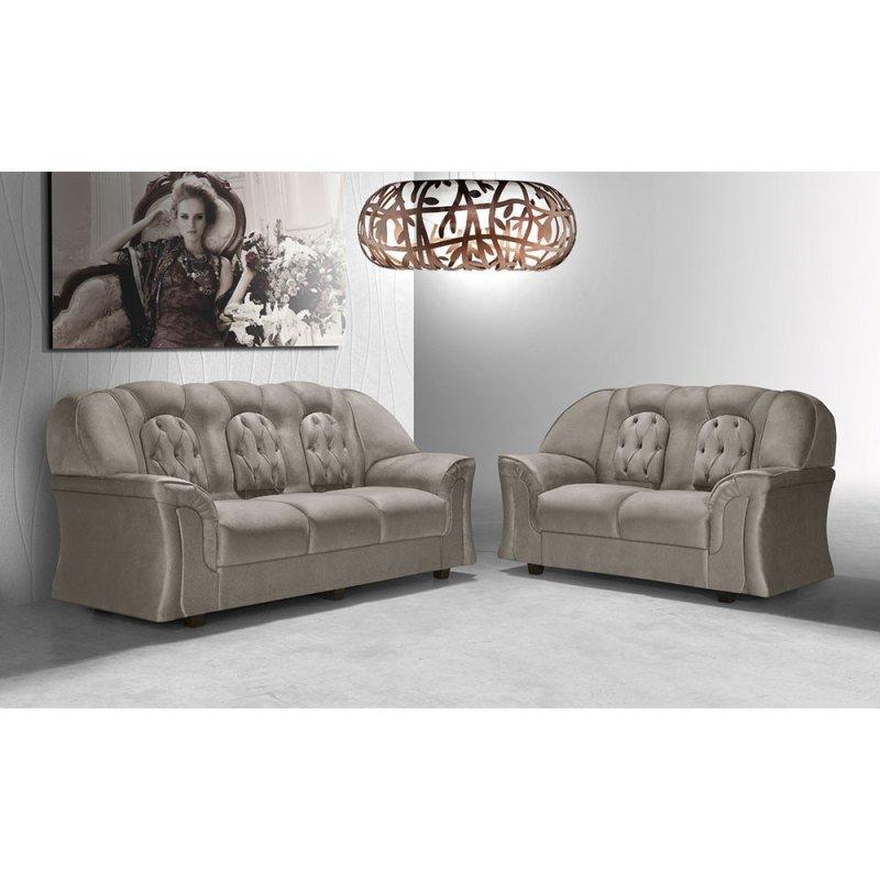 d56697df8c36b Sofa Creme 3 Lugares.html - MadeiraMadeira
