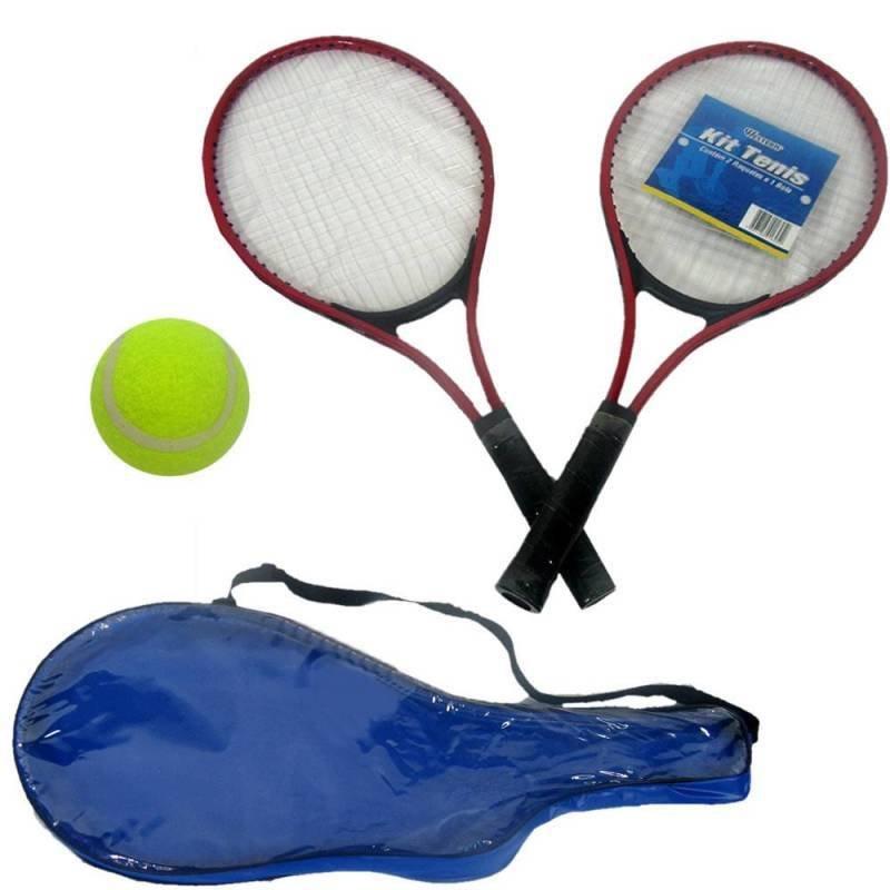 Raquete De Tenis Cj 2 Raquetes Bola Jogo Esporte Time c1a0c874c907d