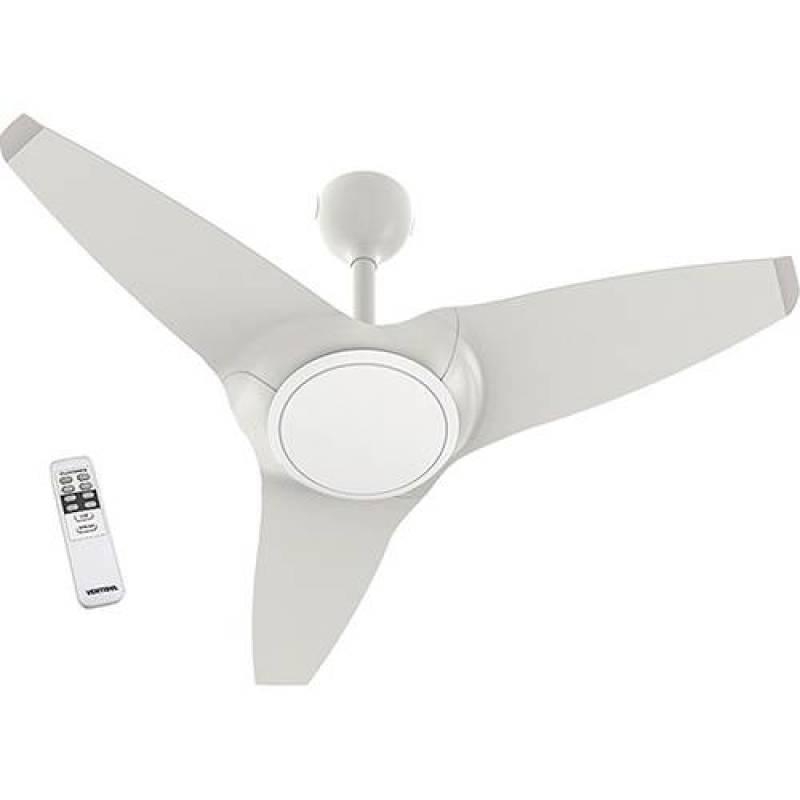 d0ed06caa Ventilador De Teto Flow Branco Com Led E Controle Remoto Super Silencioso  Ventisol 220v Branco