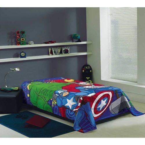 eac8910f53 Cobertor Manta Solteiro Fleece Estampada Avengers mod 2 - Lepper
