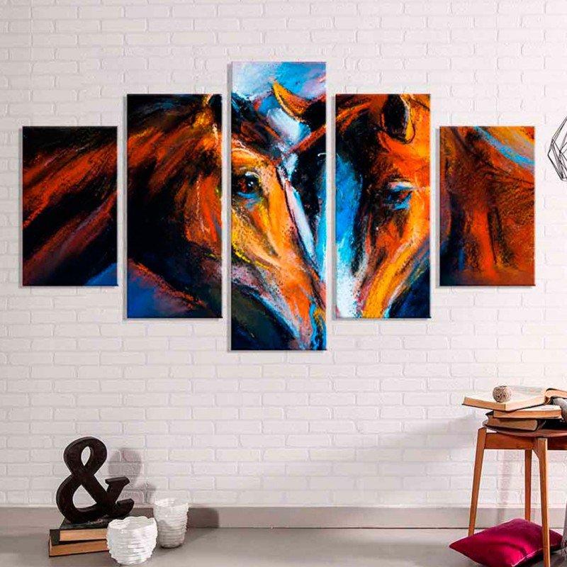 398415b84 Conjunto de 3 Telas Decorativas em Canvas Ganesha Grande ...