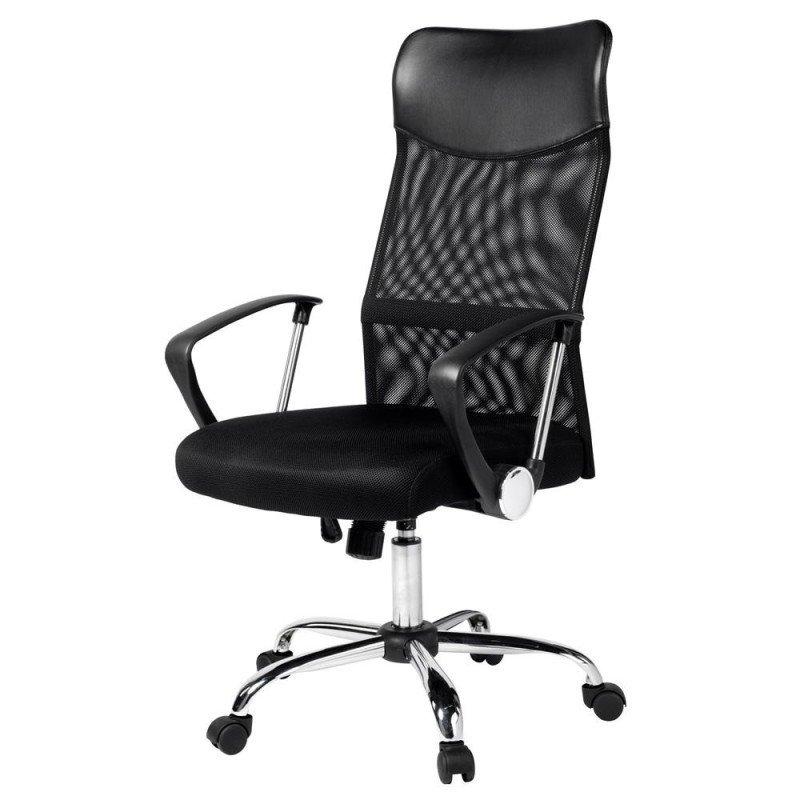 4c41e41d6578 Cadeira Giratória Presidente Detroit com apoio de Cabeça encosto em tela e  assento em espuma