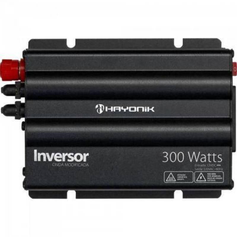 fe80cf337 Inversor 300w 12VDC/220v Onda Modificada Cinza Escuro Hayonik