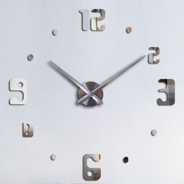 b1c7f5cd6a2 Relógio Grande 3D Decoração Parede Casa Sala Escritório