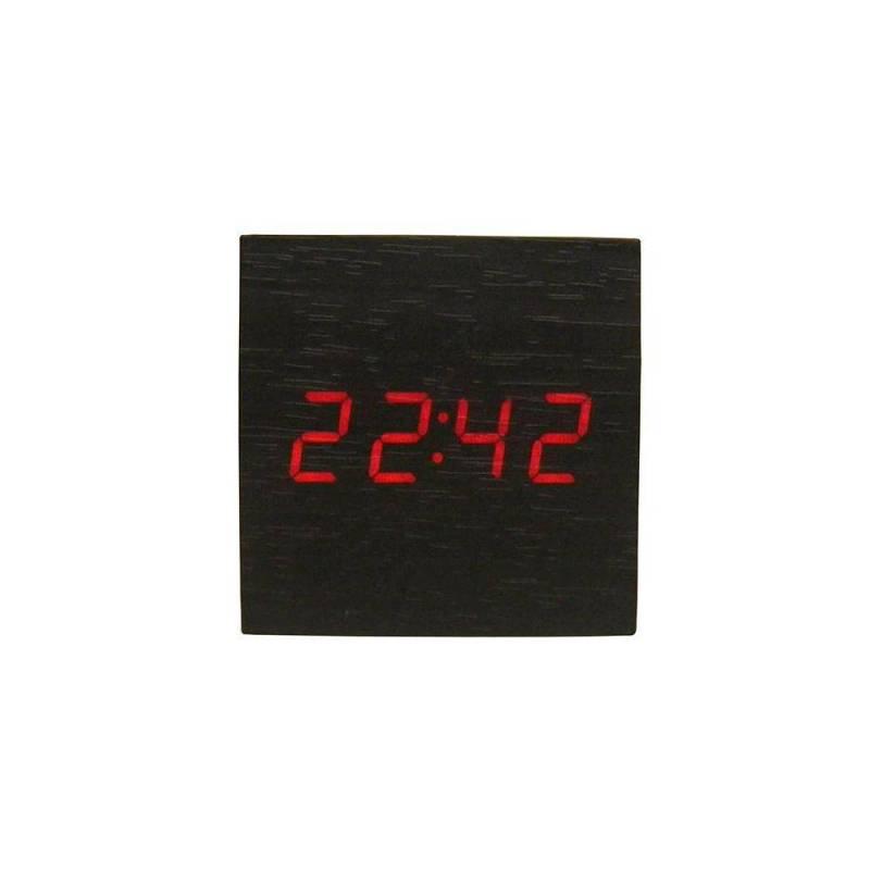 44c4d77d676 Relogio Digital Sensor Alarme Termometro Madeira Preto - MadeiraMadeira