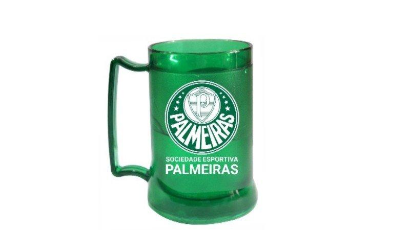 Caneca com gel verde escudo do Palmeiras - MadeiraMadeira 5b1360e47545f
