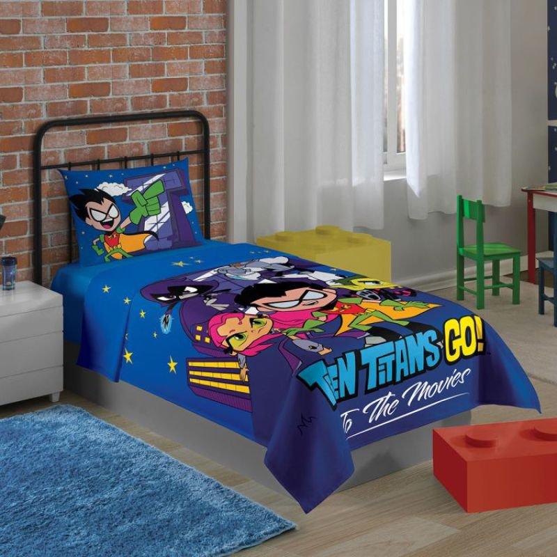 92e8441239 Jogo de Cama Infantil Teen Titans Lepper Kids 2pçs - MadeiraMadeira