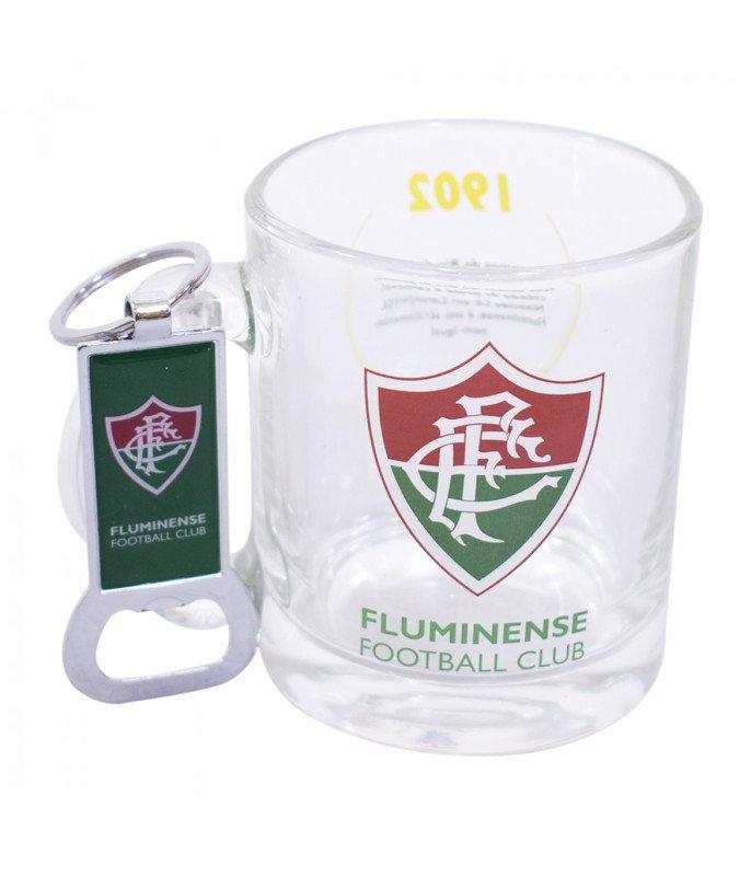 2b6c2bbb9f Kit Caneca de Vidro do Fluminense e Chaveiro Abridor - MadeiraMadeira