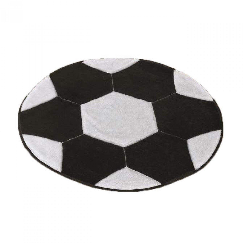 454584bfe03a Tapete Infantil Bola de Futebol Premium 0,65mx0,65m Guga Tapetes  Preto/Branco
