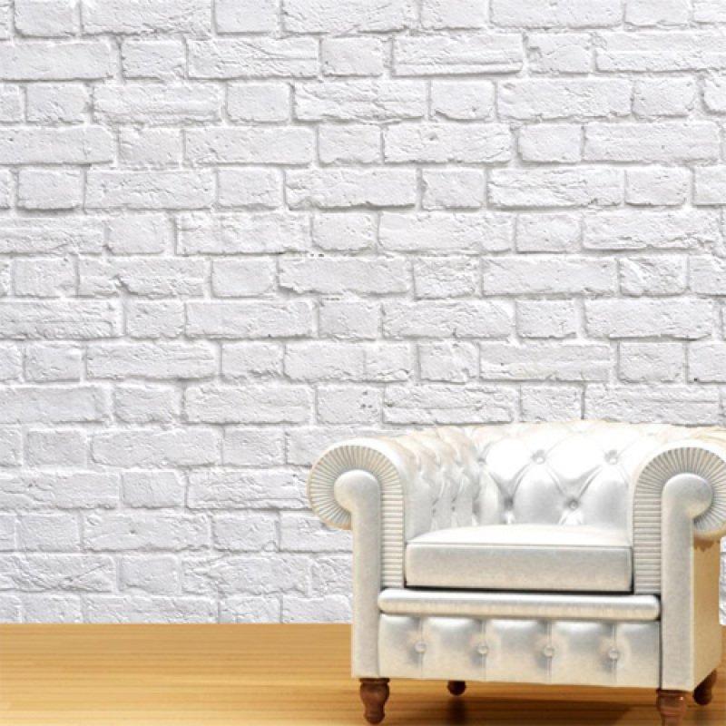 fa100070d Papel de Parede Tijolo Branco