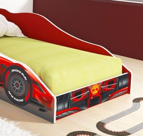 cac93fe209 Cama Carro Solteiro F1 RPM com Colchão D20 - Fórmula F1 - Vermelho - RPM  Móveis