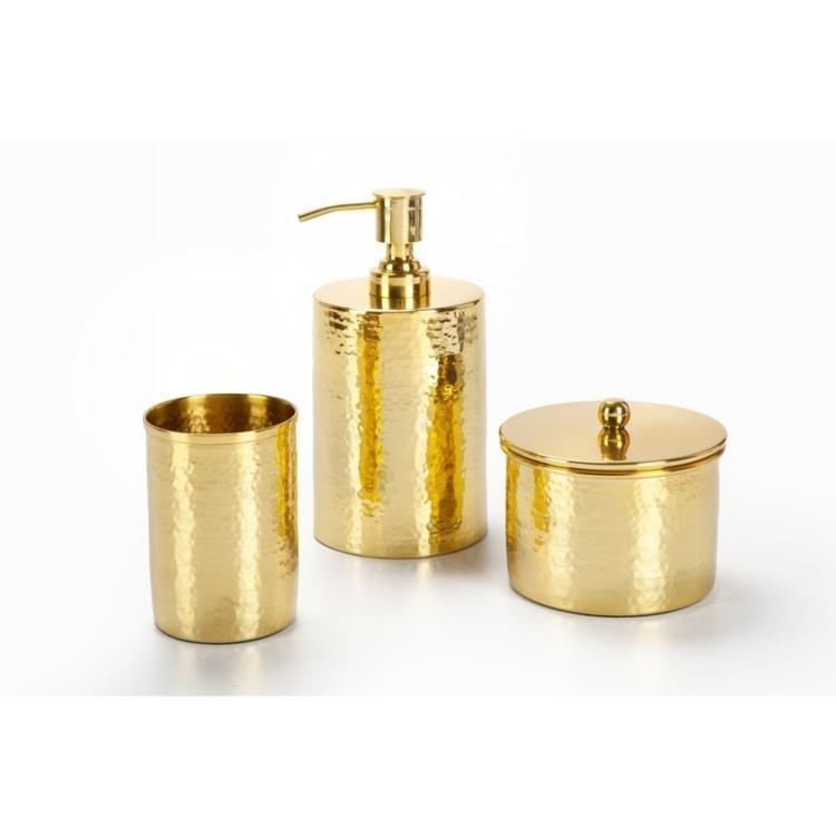Kit Para Bancada De Banheiro Em Porcelana : Kit de bancada bm golden plus dourado em acess?rios para